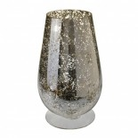 Large glass hurrricane vase - gold speckled effect