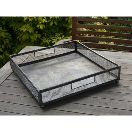 Medium metal rustic tray