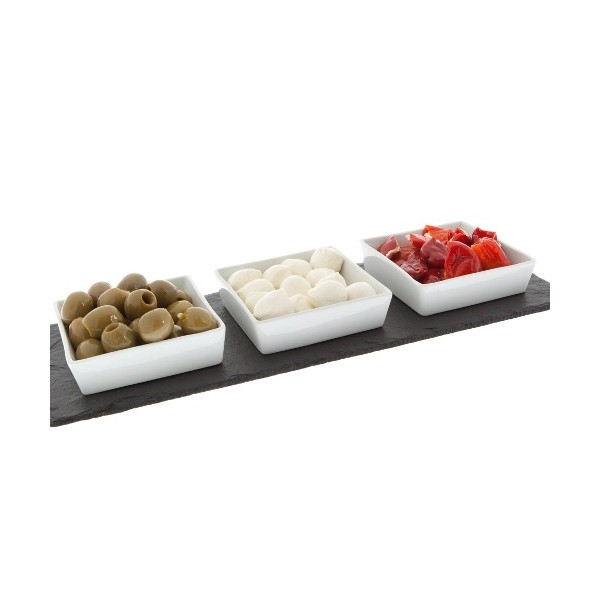 Mezze Slate Platter With Ceramic Inserts Styleabode