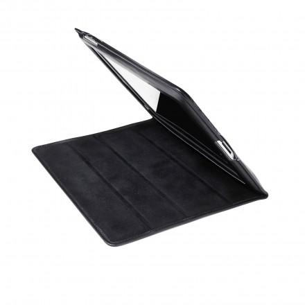 iPad cover - black leather/fabric