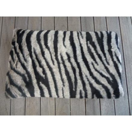 Zebra print faux fur lavender wheat bag