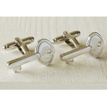 Key shaped cufflinks