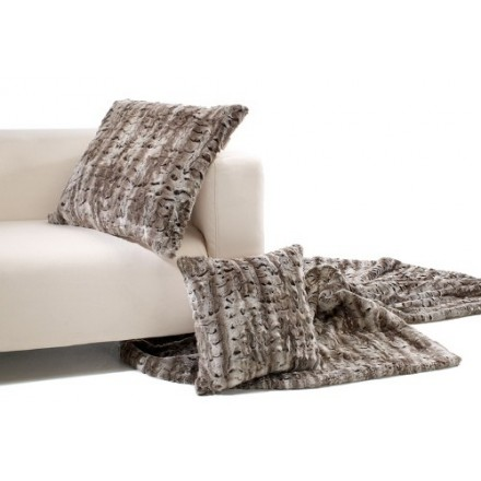 Silver andes cushion