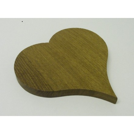 Oak heart shaped double coaster or trivet