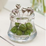 heart shaped canape picks - jar and contents not included