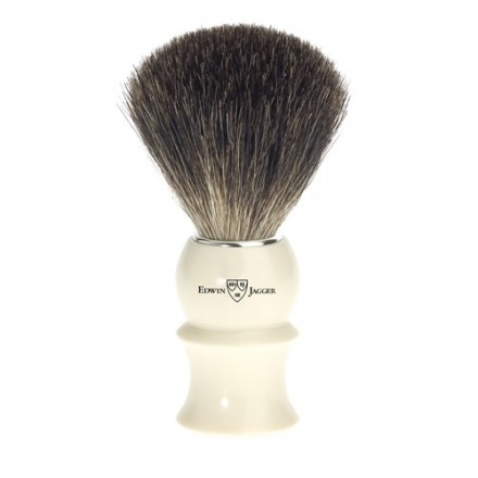 Badger hair shaving brush - Ivory coloured handle