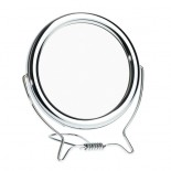 Chrome coloured shaving mirror 12cm diameter