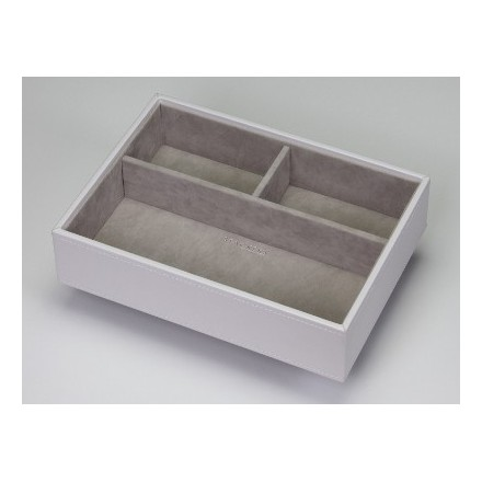 White three compartment tray