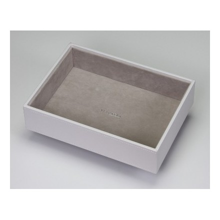 White deep open tray for stacking