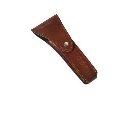 Brown leather Mach 3 ® razor case for travel.