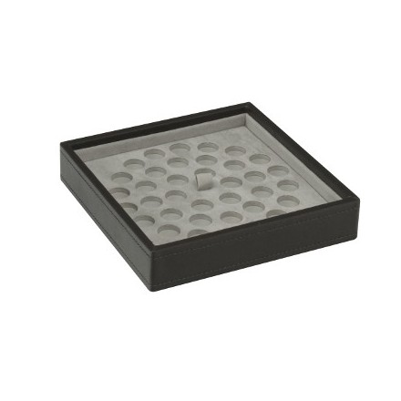 Mink stackable tray with dimple mat for bead storage