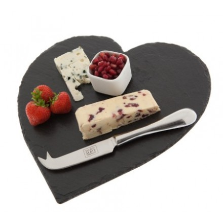 Heart shaped slate cheeseboard