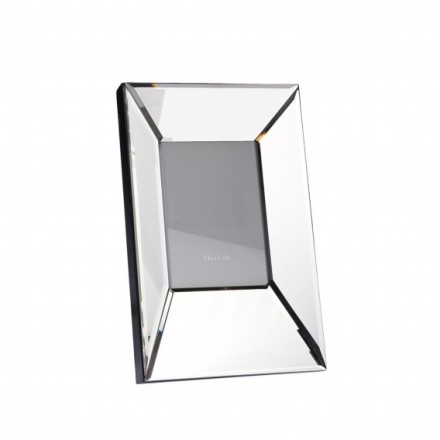Bevelled mirror photo frame